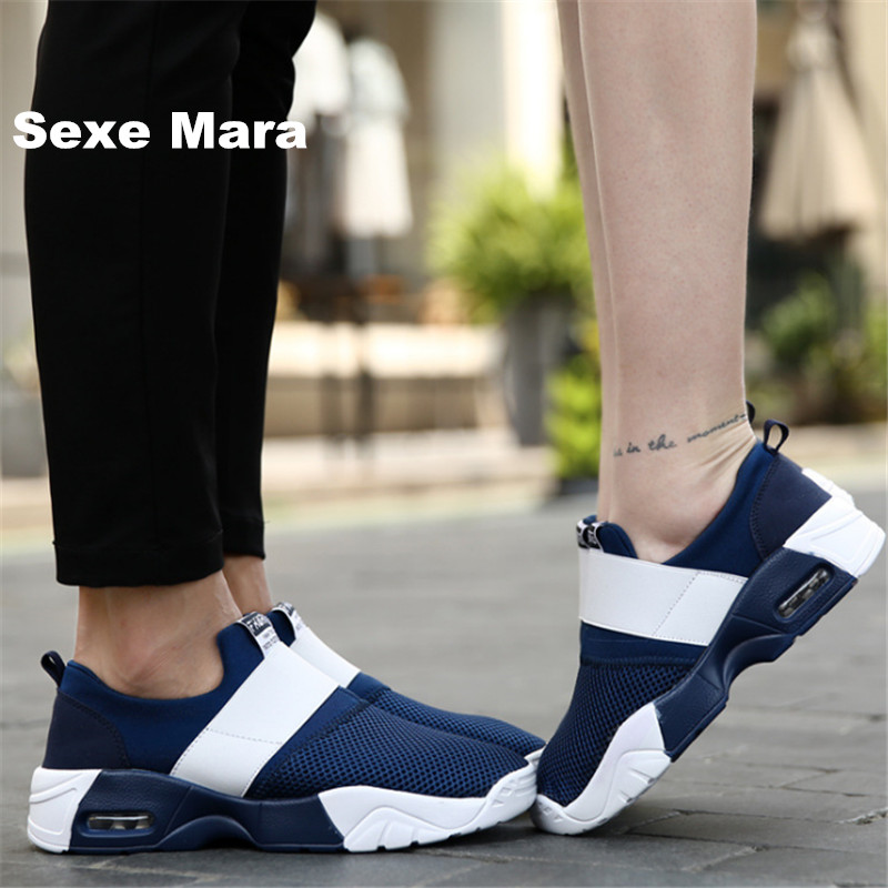 Brand shoes Men canvas Flat Casual shoes Unisex Net cloth men Air cushion damping zapatos mujer chaussure homme tenis feminino стоимость