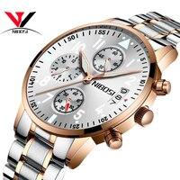 NIBOSI 2019 для мужчин смотреть лучший бренд класса люкс для мужчин часы розовое золото Relogio Masculino армия водонепроница аналоговые кварцевые часы