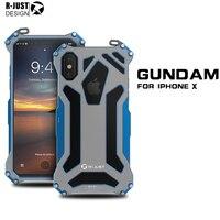 R JUST I8 Case Metal Bumper Aluminum Alloy Metal Frame Shockproof Protective Case For IPhone 8