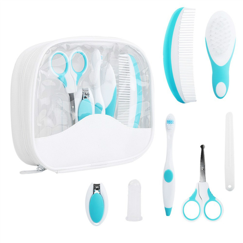 7PCS/Baby Grooming Care Manicure Set Baby Healthcare Special Nail Clippers Comb Emery Hairbrush tool Newborn Safety Care|baby grooming care|baby grooming|manicure set baby - title=