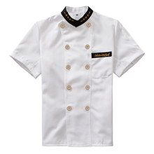 Chef Jacket Food Service Short Sleeved Summer Hotel Chef Uniform Double Breasted Chef Clothing