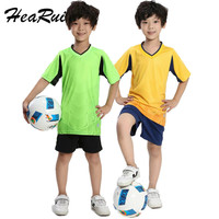High Quality New Kids Football Kits Boys Soccer Sets Jersey Uniforms Training Suits Breathable Running Short
