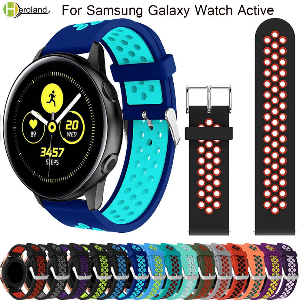 Silicone WatchBands For Samsung Galaxy Watch Active Band For Samsung Galaxy 42mm Replacement Sports Watches WristStrap Hot Sale