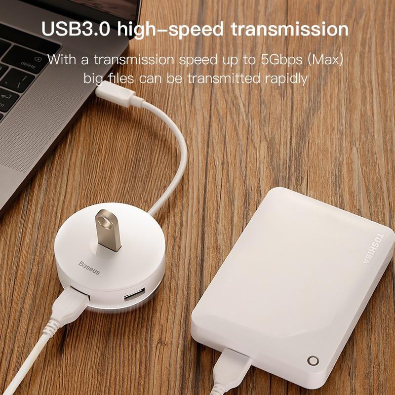 Baseus USB C HUB to USB 3.0 USB HUB for MacBook Pro Surface Pro 6 USB 2.0 HUB