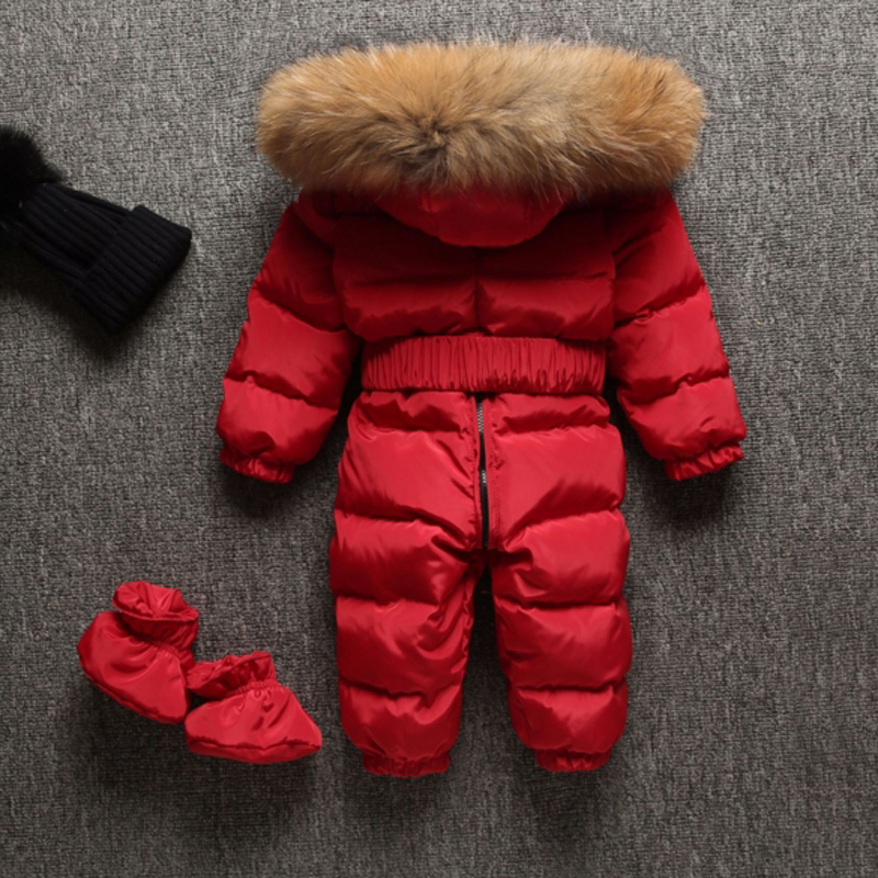 Baby Snowsuits Hooded Jumpsuit White Duck Down Jackets For Boys Girls Winter Coats Kids Clothes Infantil Rompers Overalls Outfit 2017 winter down jackets for boys