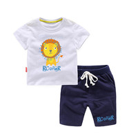 Summer Kids Clothes Cute Lion Children's Clothing Sets for Girls Boys 2PCS Sports Suit for 1 6T Toddler Summer Top + Pants