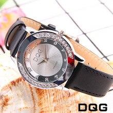 цена Dropshipping Luxury Brand Fashion Casual Gold Watches Women Crystal Stylish Leather Straps Sports Ladies Wrist Watch Clock Reloj