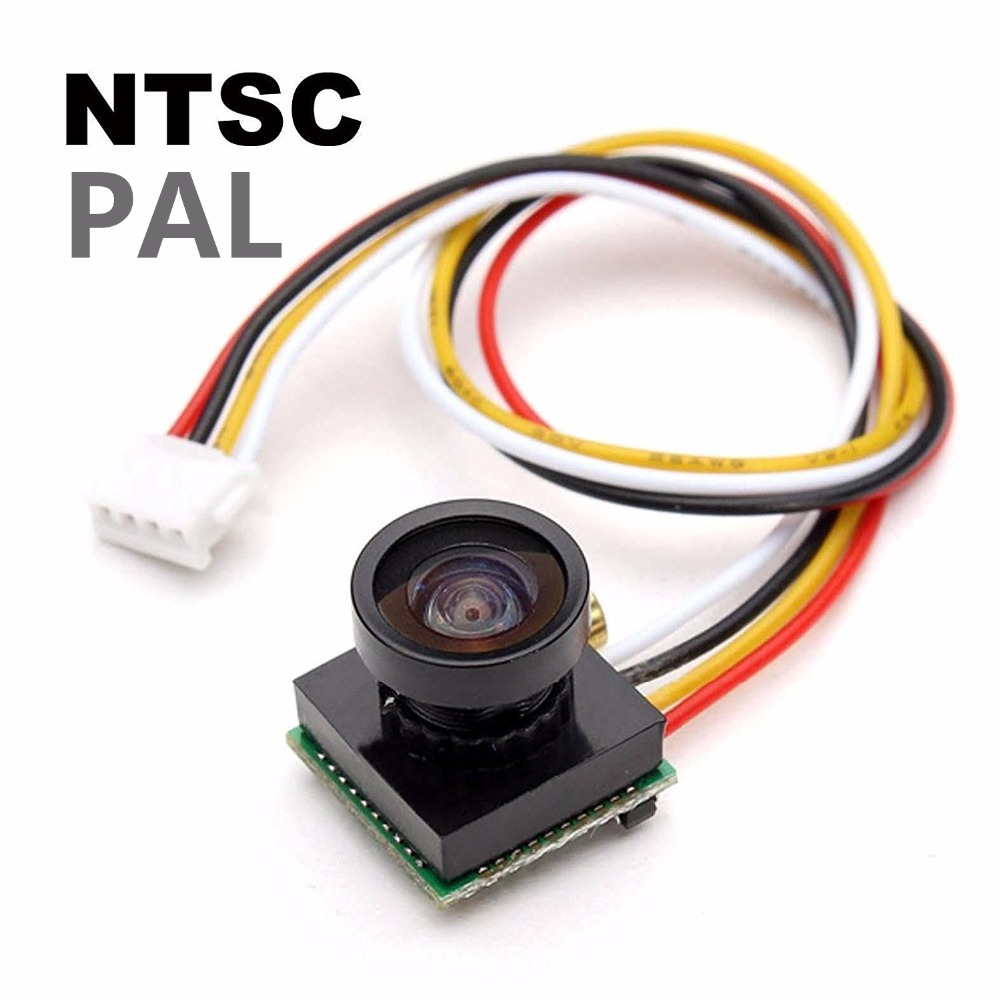 FPV Kamera 600TVL 170 Derece 1.8mm CMOS Mini Siyah PAL / NTSC Geniş Açı Lens için FPV Uçağı QAV Quadcopter