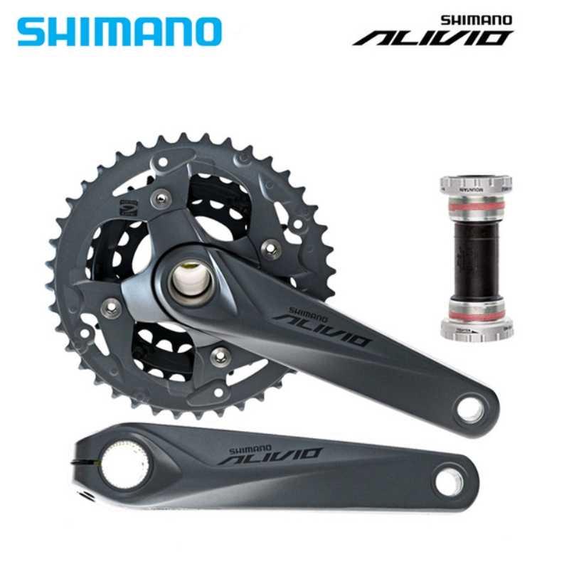 Shimano Alivio Crank Crankset FC M4050 с BB для M4000 HollowTech Запчасти для велосипедов 170/175 мм