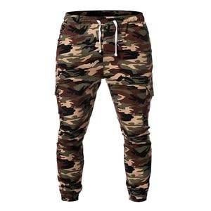 Image 3 - Pantaloni sportivi da uomo pantaloni 2019 nuovi uomini mimetici pantaloni Casual Hip hop pantaloni mimetici pantaloni elastici Sport Leggings larghi larghi