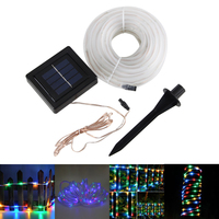 12M 100 LED Solar Powered Led RGB String lights Outdoor Lighting Garland Christmas Trees Led String Fairy Lights Waterproof