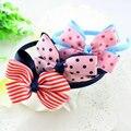 Venta caliente baby girl dot ribbon bow dot bow niños venda del pelo banda para la cabeza diadema niños accesorios para el cabello