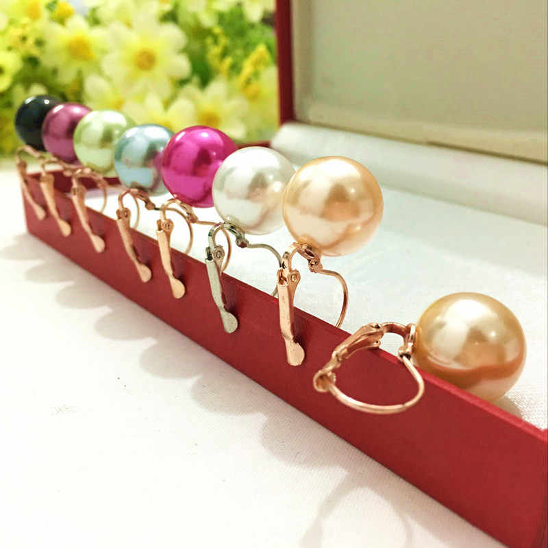 Fashion New arrives 1 PairJewelry Women Lady Elegant Simulation Pearl Beads Ear Stud Earrings  4ED157