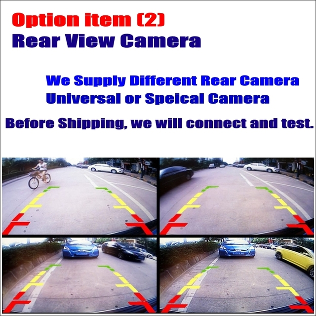 Option Item Car Rear View Back Up Reverse Camera - Work with Car DVD Player GPS Navigation System / RCA CAM Connetor