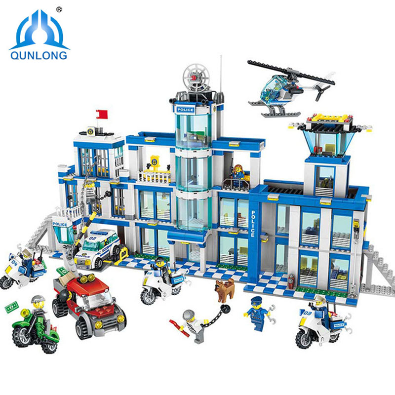 1397Pcs Anti-Terrorism Action Model Building Blocks City Police Station Series Set Compatible Legoings City Toys For Children 1397pcs large building blocks sets city police station anti terrorism action compatible legoingly city police toys for children
