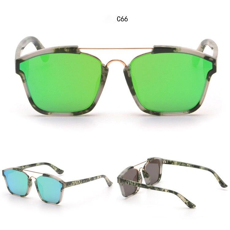 58268ca31 Mirrored Double Bridge Designer ABSTRACT Women Sunglasses Futuristic Female  Glasses Oculos De Sol Coating Fashion European Style