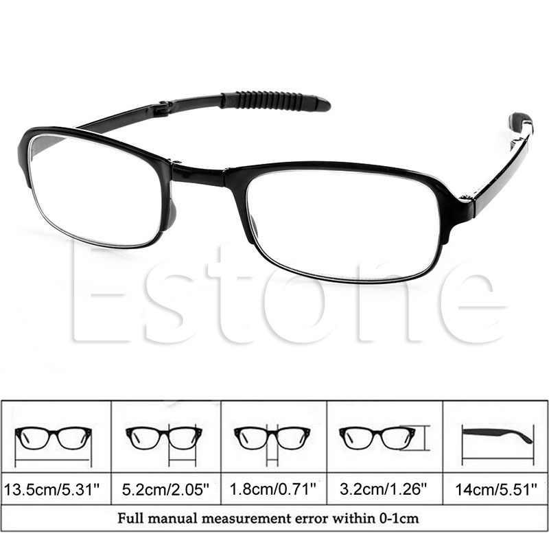 1 adet Unisex katlanabilir okuma gözlüğü katlanmış asılı + 1 + 1.5 + 2 + 2.5 + 3 + 3.5 + 4.0 sıcak