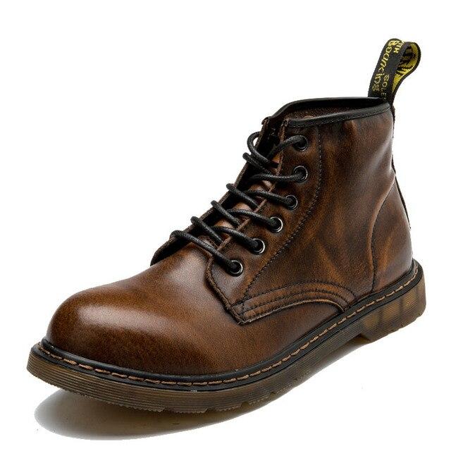 35-47 çizmeler erkekler sonbahar hakiki deri deri rahat marka kauçuk erkek botları # MXZ810830