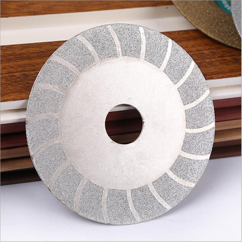 "100mm 4"" Pattern Double Side Glass Ceramic Diamond Saw Blade Cutting Disc Wheel Gold Silver 20mm Hole"