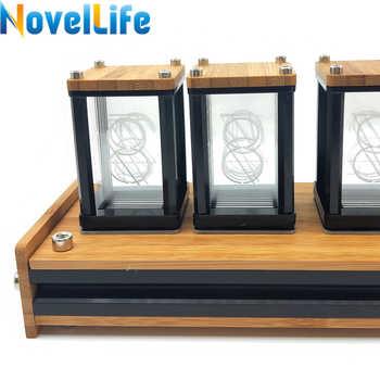 Elekstube 6 Bit RGB LED Glow Digital Clock Nixie Tube Clock Kit DIY Electronic Retro Desk Clock Stopwatch 5V Micro USB Powered