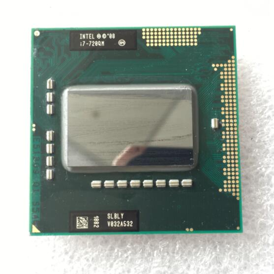 Intel  I7 720QM CPU Intel PGA 988 Pin 6M Cache 1.6GHz To 2.8GHz Quad Core 8 Threads Notebook Processors