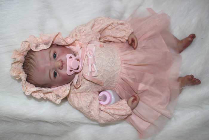 22 inch Reborn Baby GIRL Toddler Realistic Silicone Dolls Reborn Baby Teaching Doll &Clothes american girl doll clothes superman and spider man cosplay costume doll clothes for 18 inch dolls baby doll accessories d 3