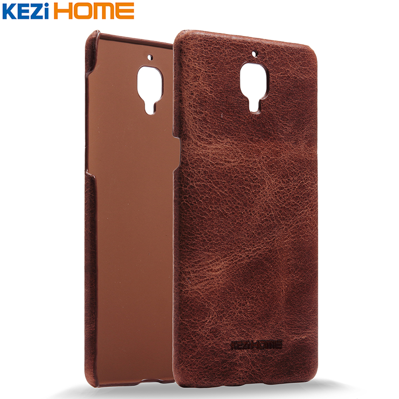 online retailer 8e960 17b0d US $9.97 |Case for OnePlus 3 KEZiHOME Retro Genuine Cow Leather Hard Back  Cover capa For OnePlus 3 / OnePlus 3T 5.5
