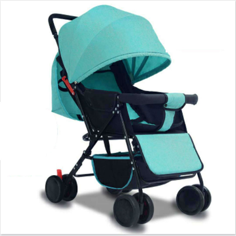 Four folding stroller trolley 25kg lightweight stroller sitting lying children adjust 0- ...