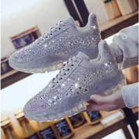 Spring Autumn Women Casual Shoes Comfortable Platform Shoes Woman Sneakers Ladies Trainers transparent Rhinestone shoes VV 57Z