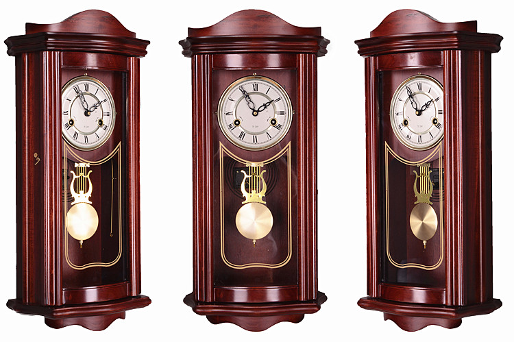 Online Shop Vintage Wood Wall Clock Living Room Feng Shui Town House Mechanical Timekeeping Pendulum Clocks Stop For North Copper Movement