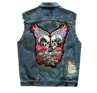 High Quality Brand New Mens Single Breasted Sleeveless Vests Men Jean Jackets Cowboy Motorcycle Waistcoats
