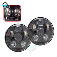 2pcs 5.75'' led Motorcycle headlighs for Harley 883 Iron Sportster 5 3/4 inch Black Projector Headlamp