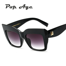 Pop Age Wholesale New Luxury Brand Designer Sunglasses Women Men Fashion Square Sun glasses Vintage Eyeglasses (A lot 3 Pieces)