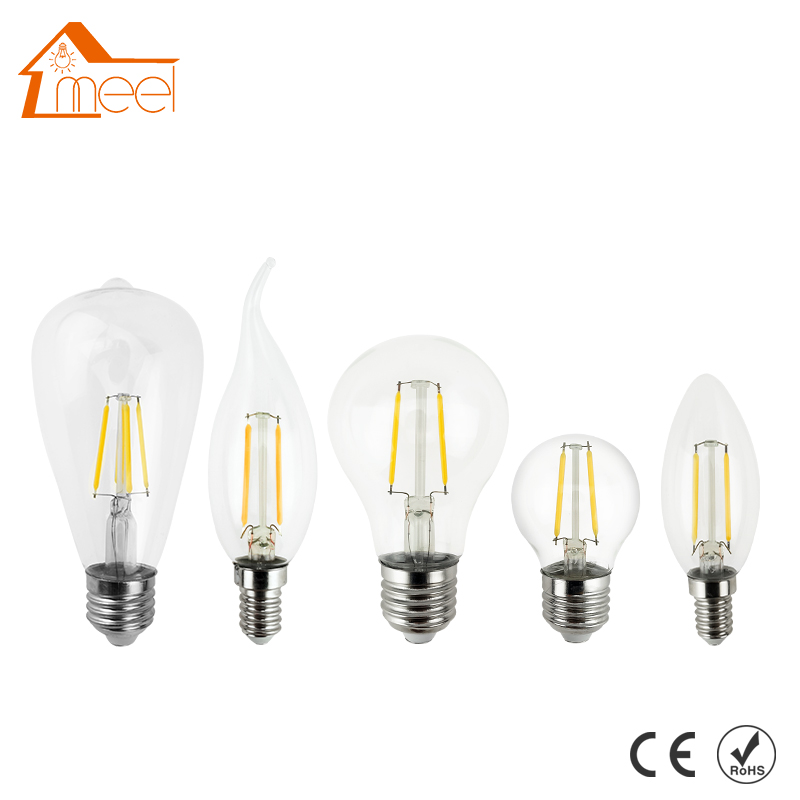 LED Lamp Edison Bulb E27 E14 220V 240V LED Filament Light Lamp 2W 4W 6W 8W Vintage Antique Retro Candle Glass Lampada Bombillas ampoule vintage led edison light bulb e27 e14 220v led retro lamp 2w 4w 6w 8w led filament light edison pendant lamps bombillas