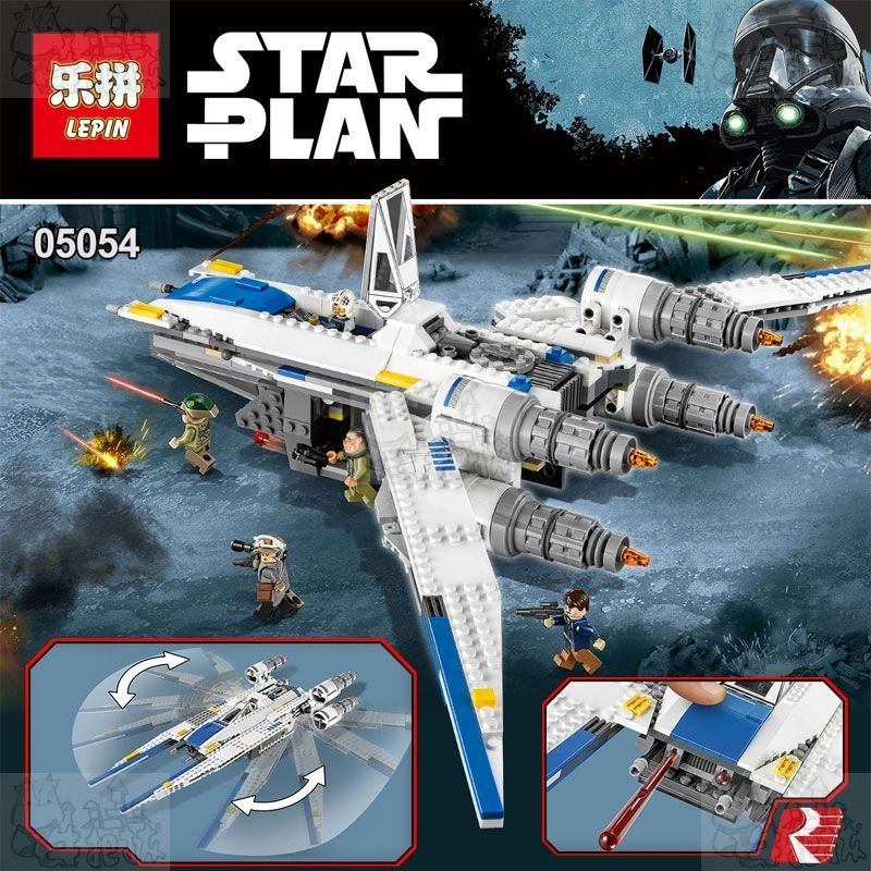 new 679pcs Lepin 05054 Star Series War the legoing Genuine The U Model Wing Fighter Set Building Blocks Bricks Toys 75155 конструктор lepin star plan истребитель повстанцев u wing 679 дет 05054