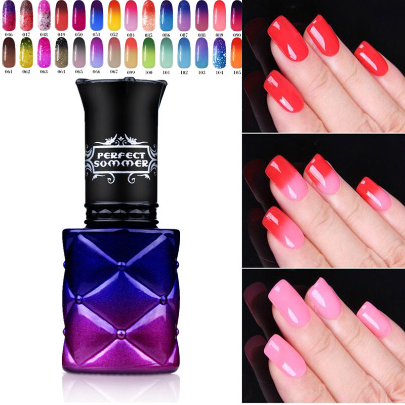 Gel Nail Polish Change Color 205 Colors 8ml Leave Color Number Uv Thermo Perfect Summer