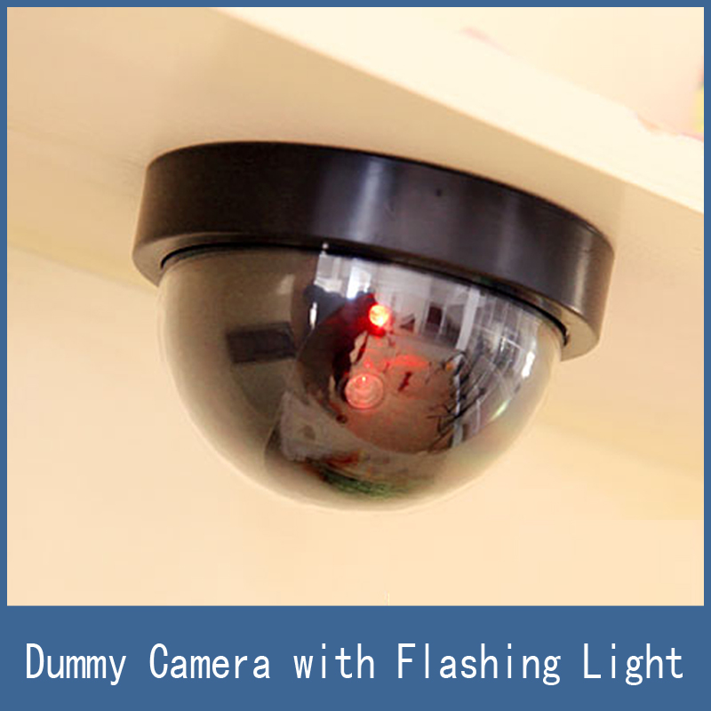 Newest Home Security Virtual Simulation Fake Dummy Dome Surveillance Camera CCTV with Flashing LED Lights Free
