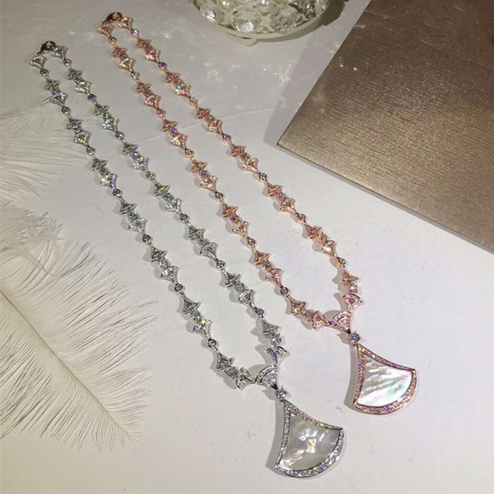 Designer Fashion Copper Jewelry 3A Cubic Zirconia Party Necklace