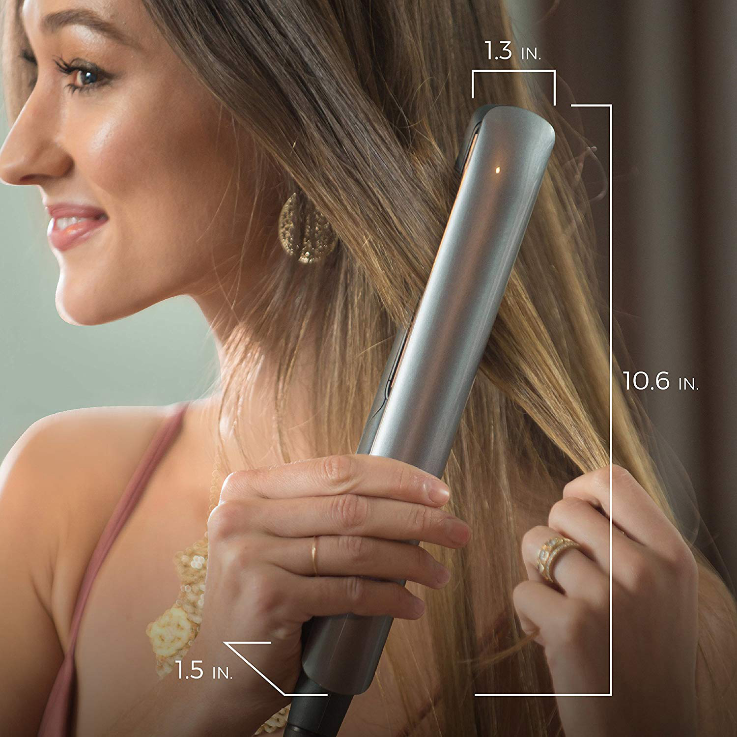 S8590 Keratin Therapy ion Hair Straightener and ceramic plates flat iron with Digital high 450F temperature