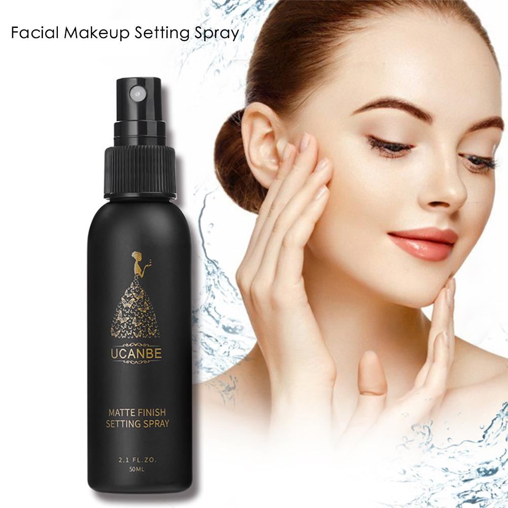 50ml Facial Makeup Setting Spray Moisturizing Hydrating Long-lasting Base Fixer Matte Cosmetic Spray Makeup Long Lasting Spray