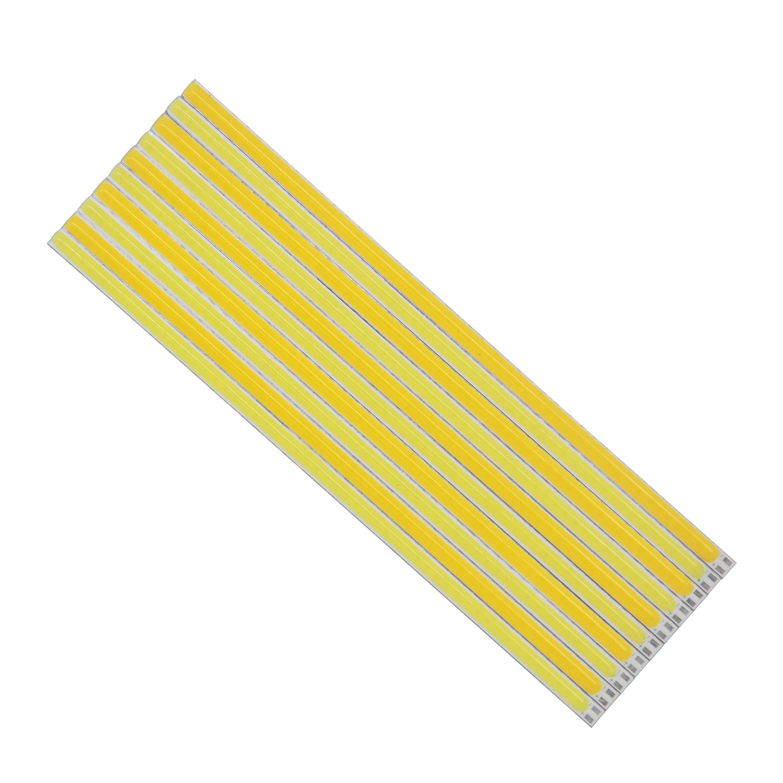 Купить с кэшбэком 10PCS LED COB Strip 200mm 300mm 400mm 500mm 600mm 12v flexible Strip Bar lights Warm White for diy Outdoor light cob led tubes