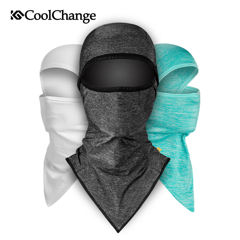 CoolChange Ice Fabric Bicycle Cap Anti-UV Sunshade Bike Face Mask Headwear Cycling Bandana Face Mask Fishing Sports Hat Scarf