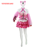 VEVEFHUANG Anime Super Sonic Pink Cosplay Dress Super Sonico Cosplay Costume