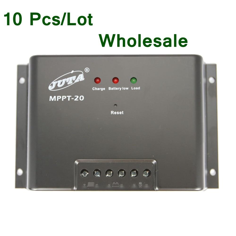 10Pcs/Lot Juta 20A Solar Charge Controller MPPT 12V Solar Panel Charge Regulator Reverse Polarity Connection Protection MPPT-20 набор tefal jamie oliver e874s574