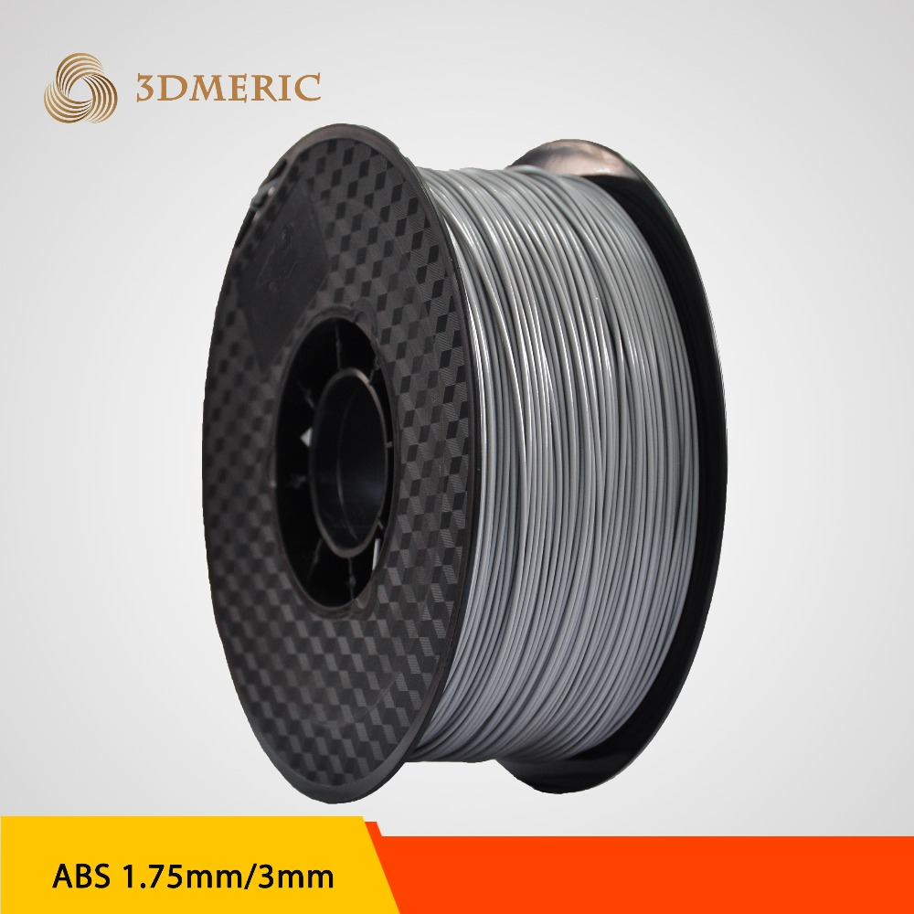PLA 1.75mm Silver 3D Printing Filament for 3D Printer flsun 3d printer big pulley kossel 3d printer with one roll filament sd card fast shipping