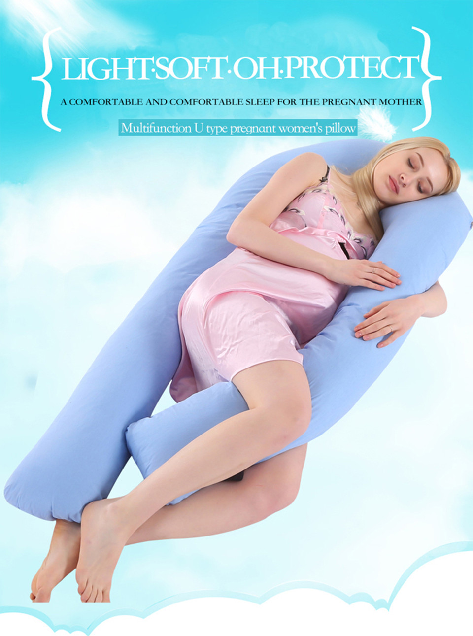 Bedding Pillows U Shape Pregnancy Pillow Full Body Maternity Pillow Comfort Sleeping Support Pillow For Pregnant Women Body _01_