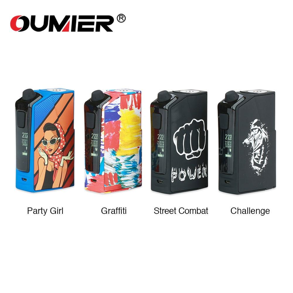 купить Original OUMIER Flash VT-1 TC Box MOD Max 222W Output No 18650battery Box Mod Fit RDA RDTA RTA E-cig Vaporizer Vape Vs DRAG Mod онлайн