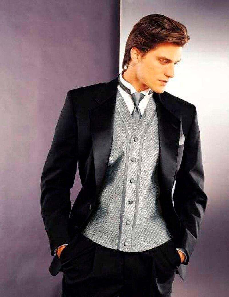 Online Shop Custom Made cutaway coat Black Wedding Suit for Men ...