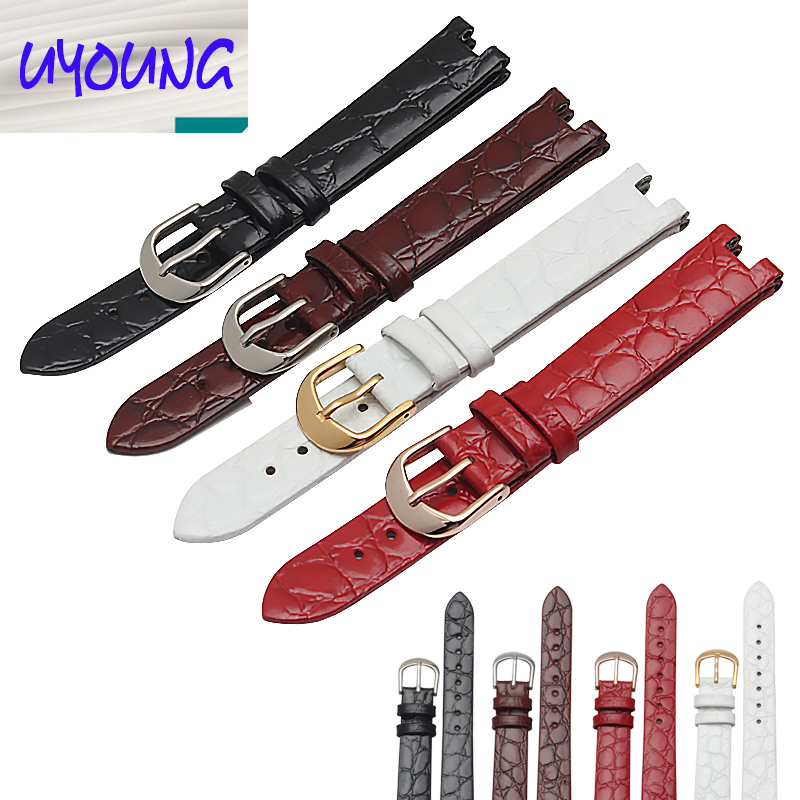 Fashion beautiful soft leather strap 15MM fit FITTA L590GWWDL592WWBD men s and women s style watchband