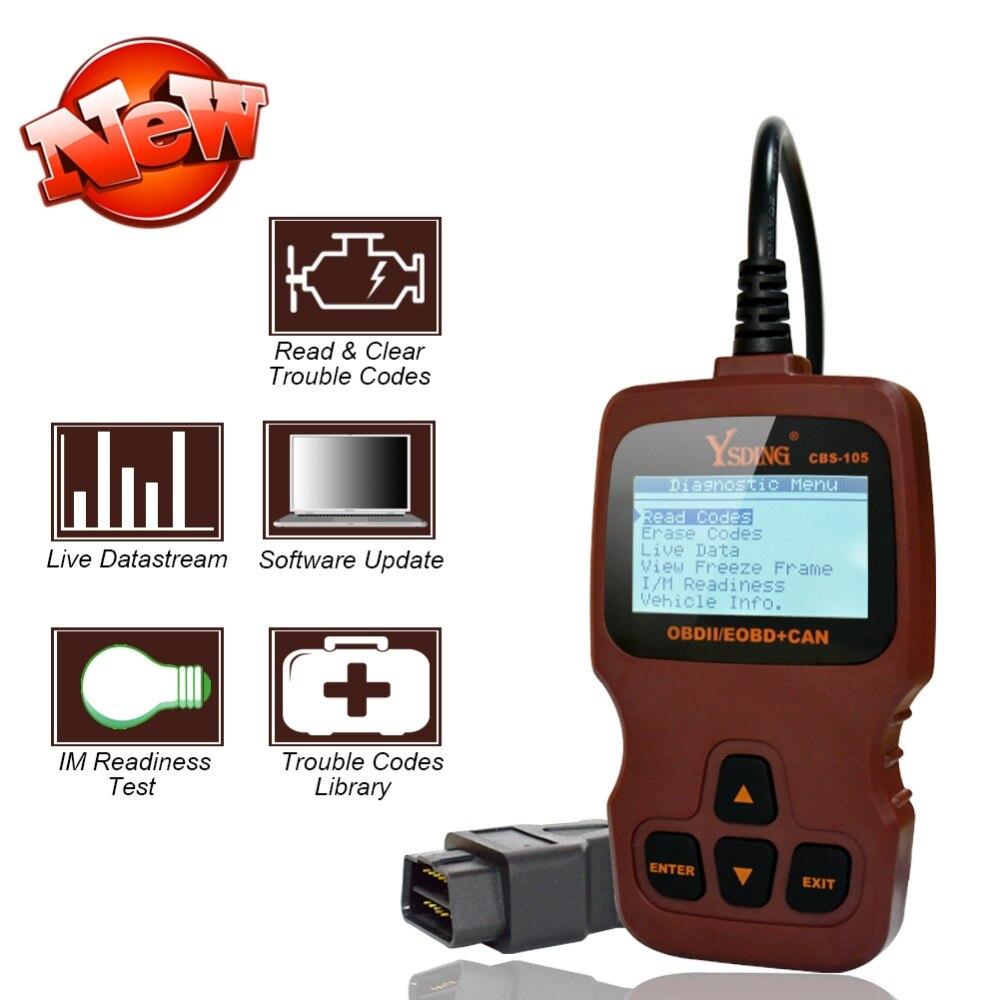 Ysding CBS-105 OBD2 Automotive Scanner OBD Car Diagnostic ToolCode Reader ODB2 Scanner OBDII OBD Auto Diagnostic Scanner